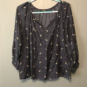 Lucky Brand Patterned Blouse